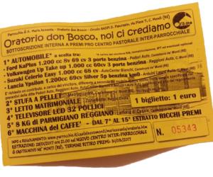 """Risultati Estrazione Sottoscrizione Interna Pro Centro """"don Bosco"""""""