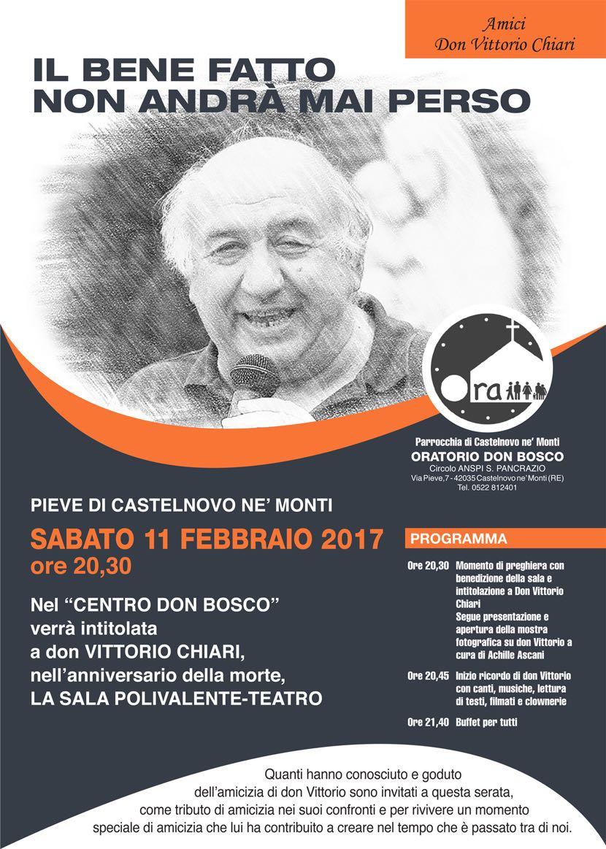 Intitolazione del Salone a don Vittorio Chiari