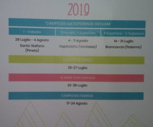 Campeggi Estate 2019