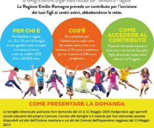 Contributo regionale per il Centro Estivo