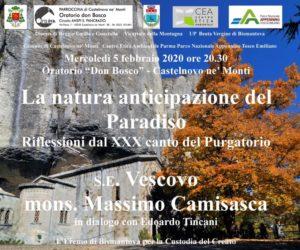 La natura anticipazione del paradiso. Con s.e. Vescovo mons. Massimo Camisasca