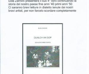 """Presentazione libro """"Qualch an dop"""" (Zannini Elda)"""